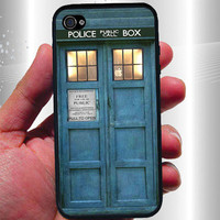 TARDIS Doctor Who iPhone Case - Rubber Silicone iPhone 4 Case or Plastic iPhone 5 Case