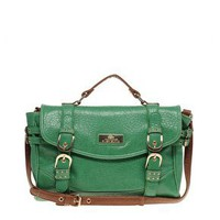 River Island | River Island Double Buckle Satchel at ASOS