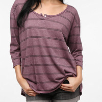 Urban Outfitters - Truly Madly Deeply One-Button Henley Tee
