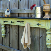 Farmhouse Display Shelf Towel Bar Coat Rack Up by TheSavvyShopper1