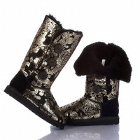 UGG 1873 Bailey Button Triplet Boots black gold stamp Outlet UK