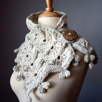 Chunky knit scarf   neckwarmer / scarf / wrap / by VitalTemptation