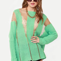 Mad Tatters Mint Green Sweater