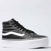 Vans Footwear The Sk8 Hi Platform Sneaker in Black Leather and True White : Karmaloop.com - Global Concrete Culture