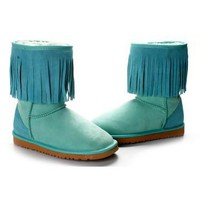 New Green 5835 Ugg Tassel Shorts Boots Outlet UK