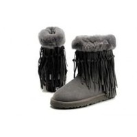 NEW Grey 5835 UGG Tassel Short Boots Outlet UK