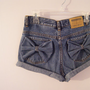 Made to Order High Waisted Denim Shorts with Cute Bows