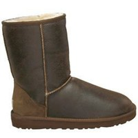 UGG Classic Short Bomer Jacket Chocolate 5825 Outlet UK