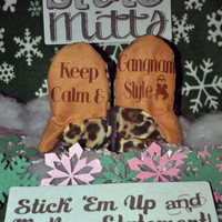 State Mitts - Keep Calm & Gangnam Style - Whimsy Inspired Mittens - Stick 'em up and make a Statement