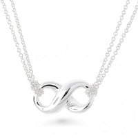 Bling Jewelry Sterling Silver Figure Eight Infinity Pendant Necklace 16 inches