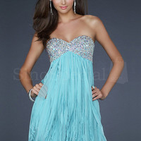 Beautiful A-line Sweetheart Neckline Mini Sequins Chiffon Graduation Dress from SinoSpecial