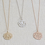 Monogram Pendant Necklace - Cursive
