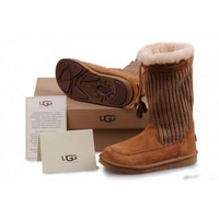 UGG Women's Suburb Crochet Chestnut 5124 Outlet UK