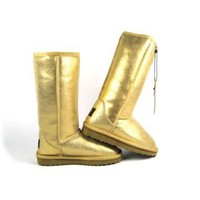 yellow ugg classic metallic tall boots 5812 Outlet UK