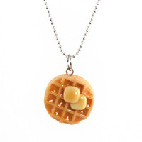 Tiny Hands: Maple Syrup Waffle Necklace, at 14% off!