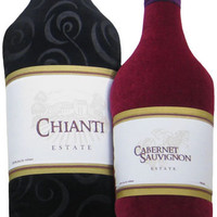 Wine Bottle Pillows (Reds)