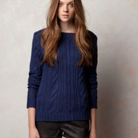 Wholesale Fashion Slim Warm Knitting Sweater Deep Blue