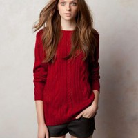 Wholesale Fashion Slim Warm Knitting Sweater Red