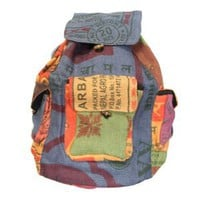 Amazon.com: Recycled Jute Rice Bag Backpack Hand Made Nepal: Sports & Outdoors