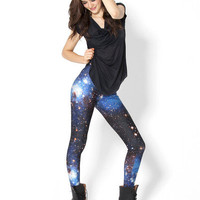 Galaxy Blue Leggings | Black Milk Clothing