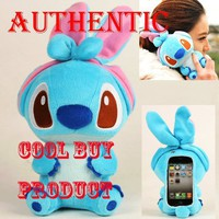 Amazon.com: Cool Buy Authentic Plush Toy Case for iPhone 4 iPhone 4S LG connect phone and iTouch -- Best Quality With One Year Warranty only From Cool Buy-- Blue Stitch: Cell Phones & Accessories
