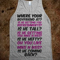 Where your boyfriend at? - t-shirts/tanks and more