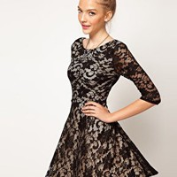 A Wear Lace Skater Dress at asos.com