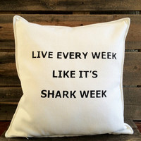 Shark Week Throw Pillow