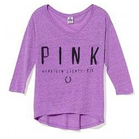 Athletic V-neck Tee - Victorias Secret PINK - Victoria's Secret
