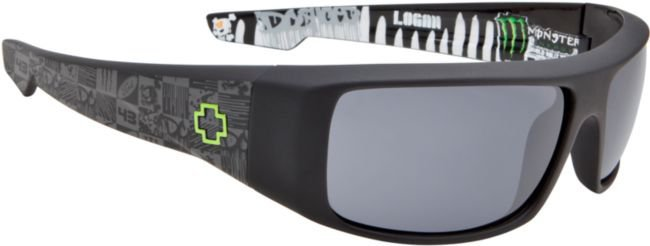 Spy Sunglasses Logan Ken Block Signature Matte Black & Grey Sunglasses at Zumiez : PDP