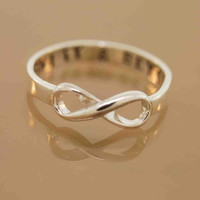Infinity ring sterling silver custom