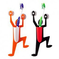 Funny Climbing Person Shape Adsorption PP Toothbrush Holder China Wholesale - Sammydress.com
