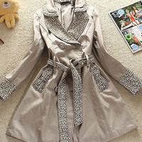 Korean Fashion Apricot Perfect Blendent Coats : Wholesaleclothing4u.com