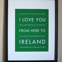 Ireland Art Print, 8x10 on Luulla