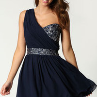 Victoria One Shoulder Embellished Prom Dress