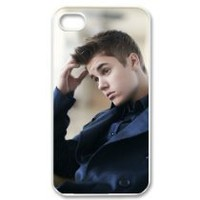 The Best Collection - Cool Justin Bieber Custom Case for iPhone 4 4s Hard Cover Fits Case iPhone 4s Case CC873