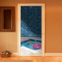 Style your door trompe-l'oeil Pool by Couture Deco