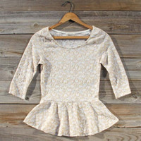 Tinsel Lace Blouse, Sweet Bohemian Clothing
