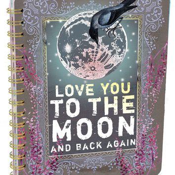 PAPAYA! Art Moon & Back Spiral Notebook