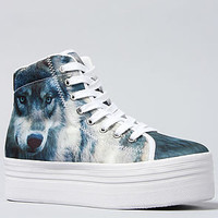 Jeffrey Campbell The HIYA Sneaker in Wolf Print : Karmaloop.com - Global Concrete Culture