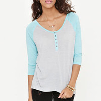 Nollie 3/4 Sleeve Baseball Henley Tee at PacSun.com