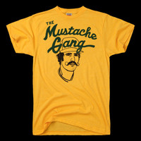 HOMAGE Oakland A's Mustache Gang Rollie Fingers Baseball T-Shirt - $28.00