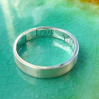 I Love You Secret Message Ring Promise Ring in by EllenBuchanan