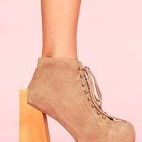 Security Platform Boot -  Taupe Suede