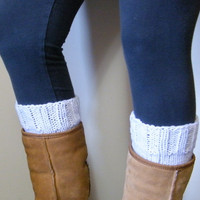 Hand Knitted Boot Cuffs