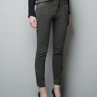 ZIP SKINNY TROUSERS - Jeans - Woman - ZARA United States
