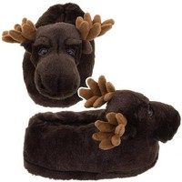 Amazon.com: Brown Moose Animal Slippers: Clothing