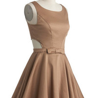 Classic Twist Retro Dress in Khaki