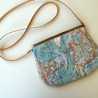 A Small World Map Purse