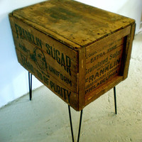 Shipping Crate Side Table Franklin Sugar 16in x 23in by modernarks